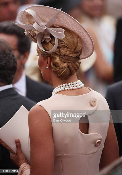 Franzsika van Almsick attends the religious ceremony of the Royal Wedding of Prince Albert II of Monaco to Princess Charlene of Monaco in the main...
