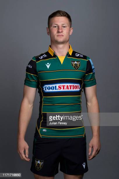 Fraser Dingwall of Northampton Saints poses for a portrait during the Northampton Saints squad photocall for the 20192020 Gallagher Premiership Rugby...