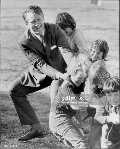 PM Fraser during the tugowarPM Malcolm Fraser attended a Liberal Party picnic at Carss Park Kogarah in a'Meet The People' exerciseThe PM had a BBQ...