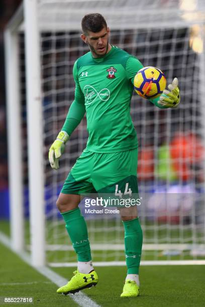 Fraser Forster of Southampton during the Premier League match between AFC Bournemouth and Southampton at Vitality Stadium on December 3 2017 in...