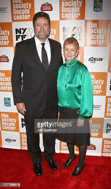 Fraser Heston and Catherine Wyler attend the 2011 New York Film Festival opening night screening of Carnage at Alice Tully Hall Lincoln Center on...