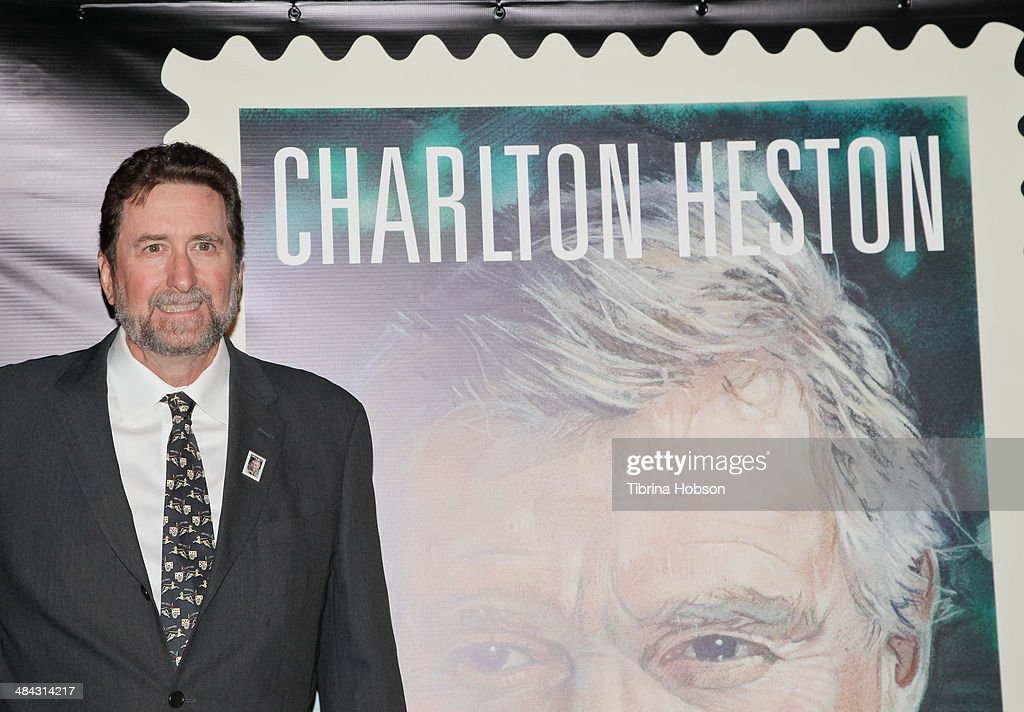 First-Day-Of-Issue Dedication Ceremony For The Charlton Heston Forever Stamp : News Photo
