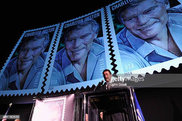Fraser Heston attends the postage stamp ceremony during the 2014 TCM Classic Film Festival at TCL Chinese Theatre on April 11, 2014 in Hollywood,...