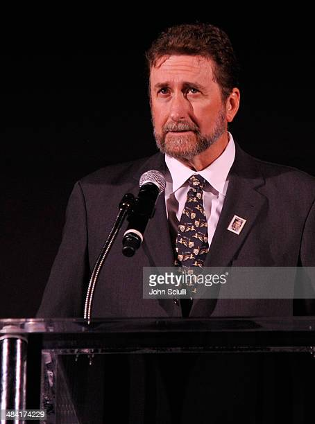 Fraser Heston speaks onstage at the Touch Of Evil Screening during the 2014 TCM Classic Film Festival at TCL Chinese Theatre on April 11 2014 in...