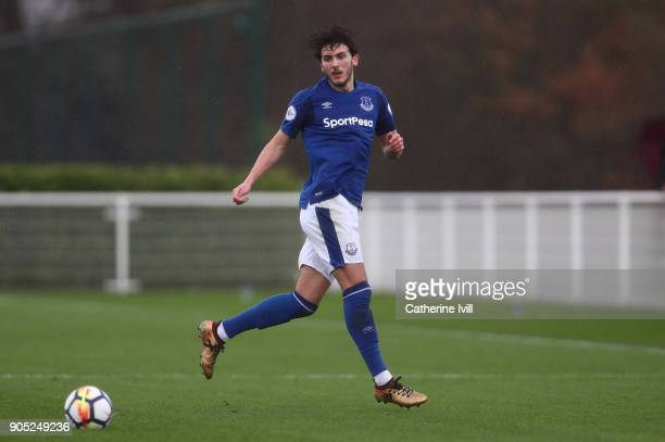 Fraser Hornby of Everton during the Premier League 2 match between Tottenham Hotspur and Everton on January 15 2018 in Enfield England