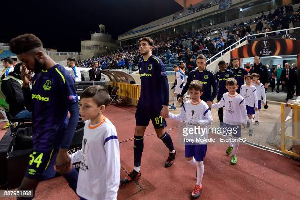 Fraser Hornby of Everton makes his first team debut during the UEFA Europa League Group E match between Apollon Limassol and Everton at GSP Stadium...