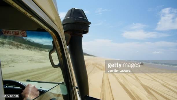 Fraser island drive on 70 mile beach