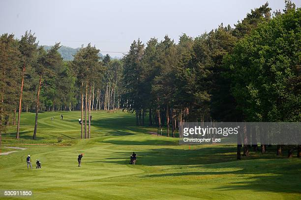 Fraser Mann of Carnoustie Golf Links during Round 1 of the Senior Club Pro's Championship at Foxhills Golf Club on May 12 2016 in Ottershaw England