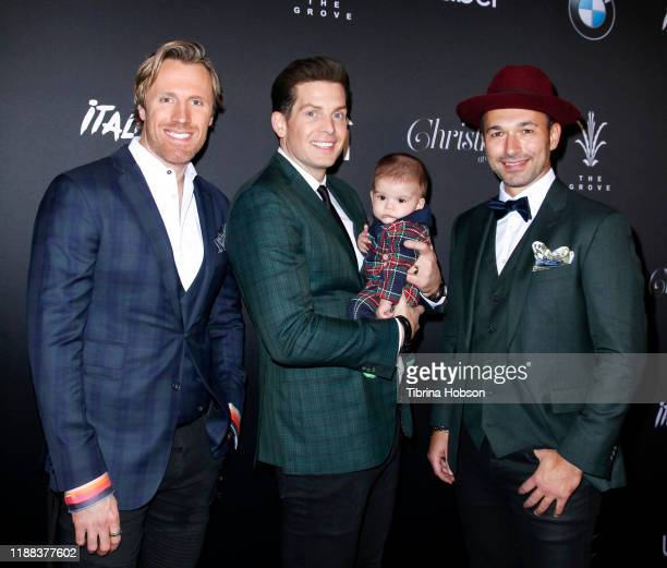 Fraser Walters Clifton Murray and Victor Micallef of The Tenors attend Christmas at The Grove A Festive Tree Lighting celebration at The Grove on...