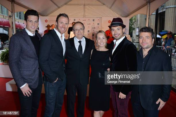 Fraser Walters Clifton Murray Bob Ezrin Jan Ezrin Victor Micallef and Remigio Pereira attend Canada's Walk Of Fame Ceremony at The Elgin on September...