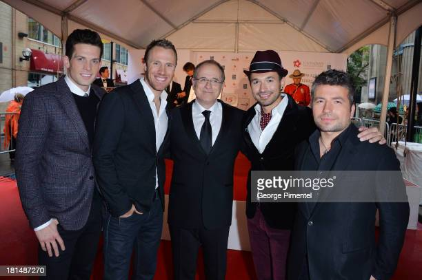 Fraser Walters Clifton Murray Bob Ezrin Victor Micallef and Remigio Pereira attend Canada's Walk Of Fame Ceremony at The Elgin on September 21 2013...