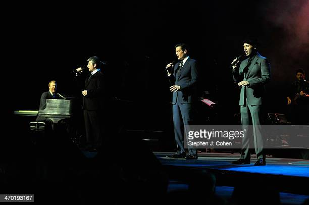 Fraser Walters Remigio Pereira Victor Micallef and Clifton Murray of The Tenors perform at Whitney Hall on February 9 2014 in Louisville Kentucky