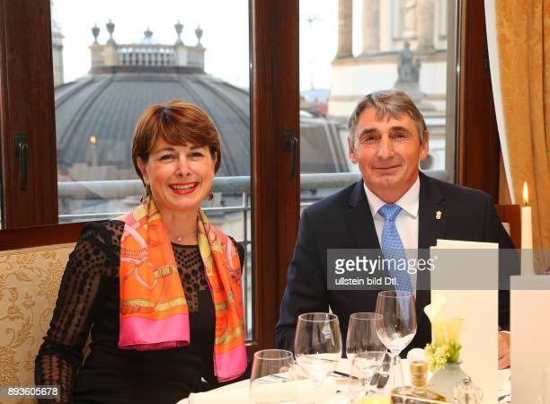 I E Frau Isabelle BerroAmadeï Amadi Botschafterin Monaco mit Ehemann Bernard Amadeï anlaesslich der Monegassischen Food Promotion Monaco Dinner im...