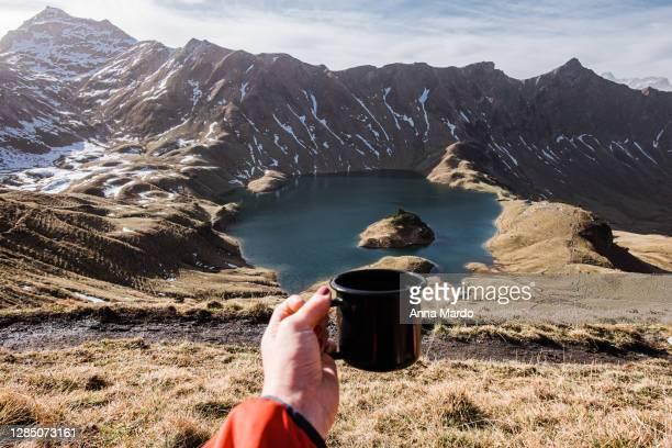 frau wandert in den bergen - frau fotografías e imágenes de stock