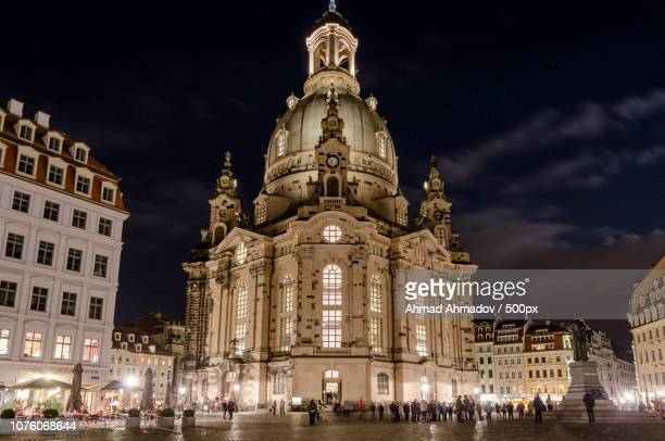 frauen kirche, dresden - kirche stock pictures, royalty-free photos & images