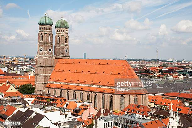Frauenkirche As Seen From The Church Of St Peter Bell Tower Munich Bavaria Germany