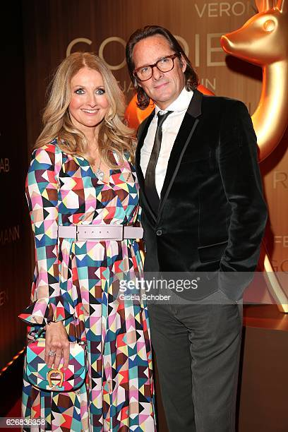 Frauke Ludowig and her husband Kai Roeffen during the Bambi Awards 2016 arrivals at Stage Theater on November 17 2016 in Berlin Germany