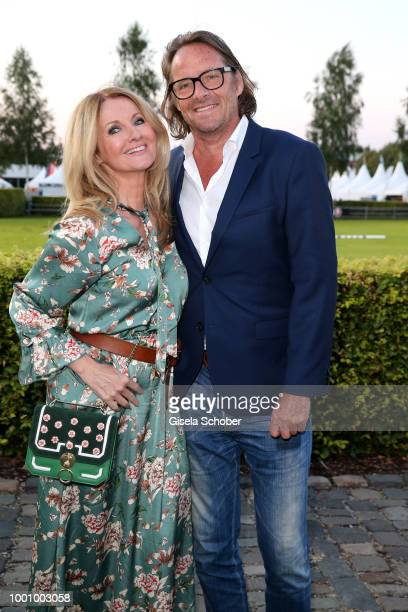 Frauke Ludowig and her husband Kai Roeffen during the media night of the CHIO 2018 on July 17 2018 in Aachen Germany