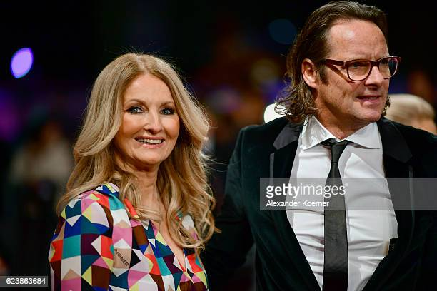 Frauke Ludowig and Kai Roeffen arrive at the Bambi Awards 2016 at Stage Theater on November 17 2016 in Berlin Germany