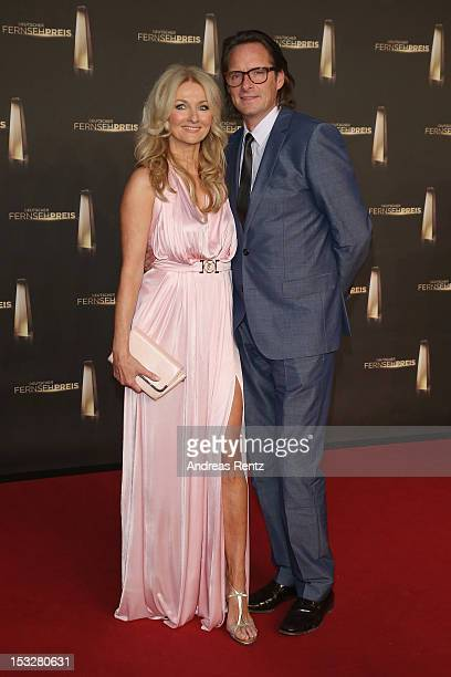 Frauke Ludowig and Kai Roeffen arrive for the German TV Award 2012 at Coloneum on October 2 2012 in Cologne Germany
