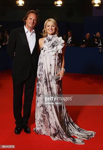 Frauke Ludowig and Kai Roeffen arrive to the Bambi Awards 2009 at the Metropolis Hall at the Filmpark Babelsberg on November 26 2009 in Potsdam...