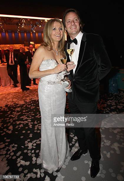 Frauke Ludowig and Kai Roeffen attend the Bambi 2010 Award After Show Party at Filmpark Babelsberg on November 11 2010 in Potsdam Germany