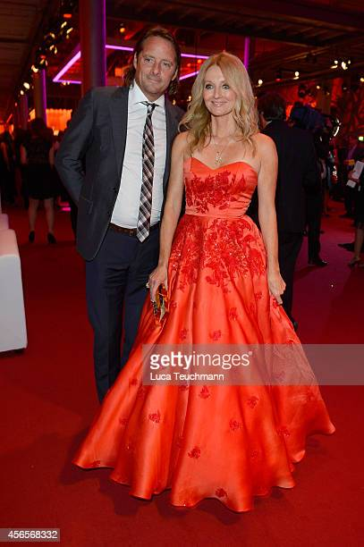 Frauke Ludowig and Kai Roeffen attend the Deutscher Fernsehpreis 2014 after show party at Coloneum on October 2 2014 in Cologne Germany