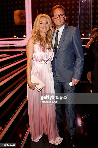 Frauke Ludowig and Kai Roeffen attend the German TV Award 2012 at Coloneum on October 2 2012 in Cologne Germany