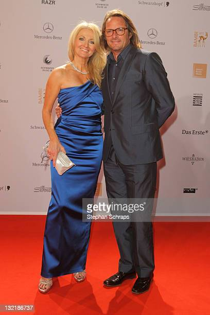 Frauke Ludowig and Kai Roeffen attends the Red Carpet for the Bambi Award 2011 ceremony at the RheinMainHallen on November 10 2011 in Wiesbaden...