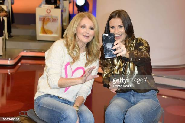 Frauke Ludowig and Laura Wontorra attend the RTL Telethon 2017 on November 24 2017 in Huerth Germany