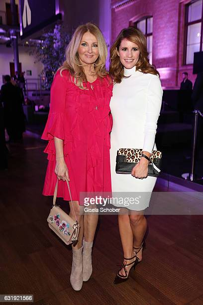 Frauke Ludowig and Mareile Höppner attend the Marc Cain fashion show A/W 2017 at Deutsche Telekom representation on January 17 2017 in Berlin Germany