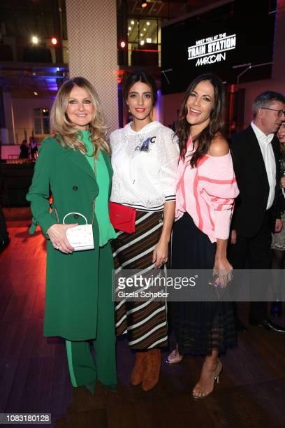 Frauke Ludowig and Marvy Rieder and Bettina Zimmermann during the Marc Cain Fashion Show Autumn/Winter 2019 at Deutsche Telekom's representative...