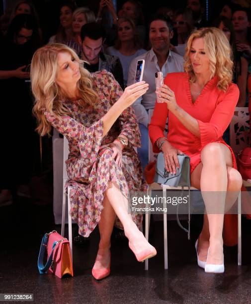 Frauke Ludowig and Veronica Ferres during the Marc Cain Fashion Show Spring/Summer 2019 at WECC on July 3 2018 in Berlin Germany
