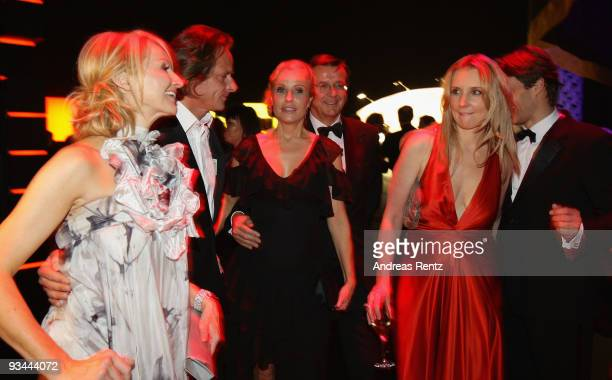 Frauke Ludowig, Kai Roeffen, Katja Burkard, Hans Mahr, Jette Joop and Christian Elsen attend the Bambi Awards 2009 after show party at the Metropolis...