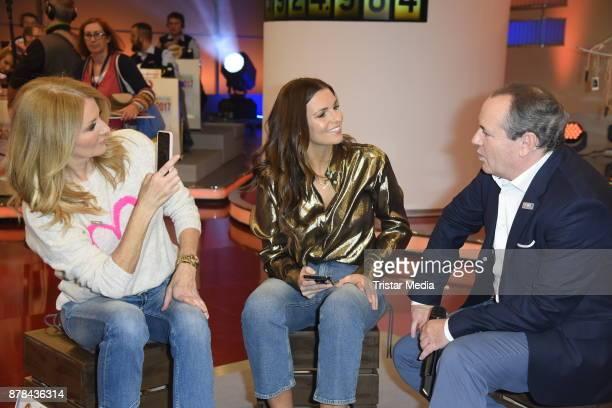Frauke Ludowig Laura Wontorra and Wolfram Kons attend the RTL Telethon 2017 on November 24 2017 in Huerth Germany
