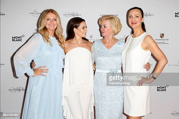 Frauke Ludowig Mandy Grace Capristo Liz Mohn and Brita Segger attend the Society Relations Ladies Lunch in favor of the Stiftung Deutsche...
