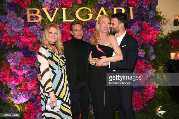 Frauke Ludowig Steffen Schraut and Princess Lilly zu SaynWittgensteinBerleburg and Giulio Berruti during the Bulgari PreOscars party at hotel Chateau...