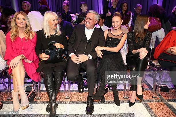Frauke Ludowig Ute Schlotterer and her husband Helmut Schlotterer Founder and CEO of Marc Cain Kate Bosworth Alexandra Maria Lara during the Marc...