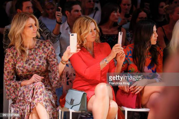 Frauke Ludowig Veronica Ferres and Bettina Zimmermann during the Marc Cain Fashion Show Spring/Summer 2019 at WECC on July 3 2018 in Berlin Germany