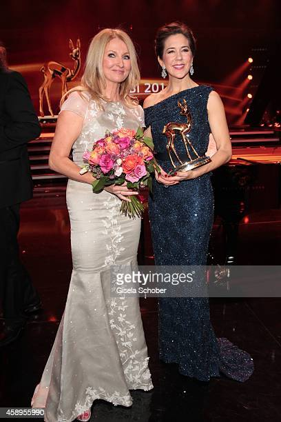 Frauke Ludowig wearing a dress of MeissenCouture Crown Princess Mary Elisabeth of Denmark during the Bambi Awards 2014 show on November 13 2014 in...
