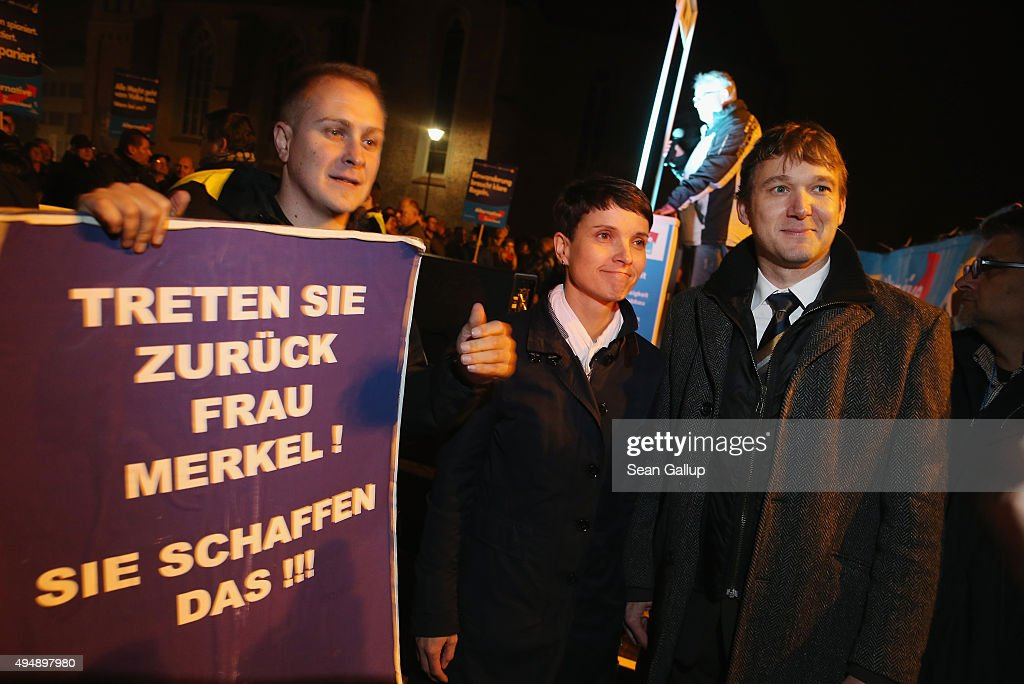 Frauke Petry Speaks To AfD Gathering In Dessau : News Photo