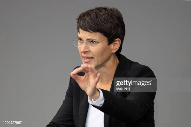 Frauke Petry former leader of Germany's farright AfD party speaks at the Bundestag on April 23 2020 in Berlin Germany Germany is still at the...