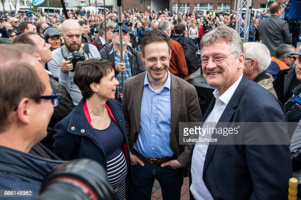 Frauke Petry head of the Alternative fuer Deutschland rightwing populist political party Marcus Pretzell Alternative fuer Deutschland lead candidate...