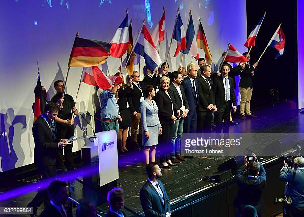 Frauke Petry leader of the Alternative fuer Deutschland political party Marine Le Pen leader of the French Front National political party Matteo...