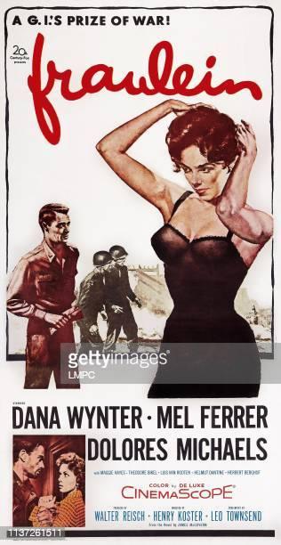 Fraulein poster US poster art bottom left Mel Ferrer Dana Wynter 1958