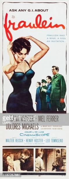Fraulein poster US poster art bottom right Dana Wynter Mel Ferrer 1958
