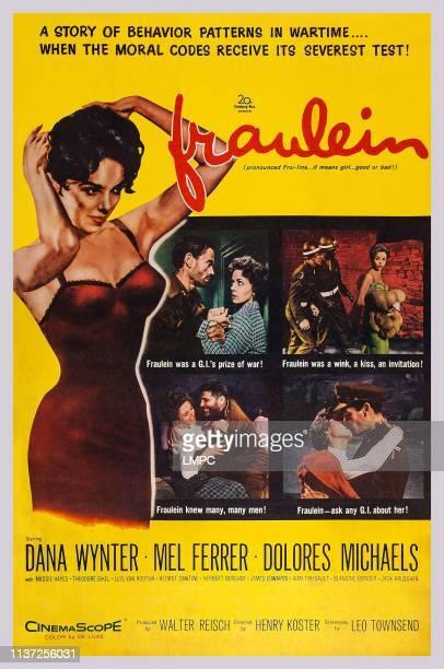 Fraulein poster US poster art top left inset Mel Ferrer Dana Wynter 1958