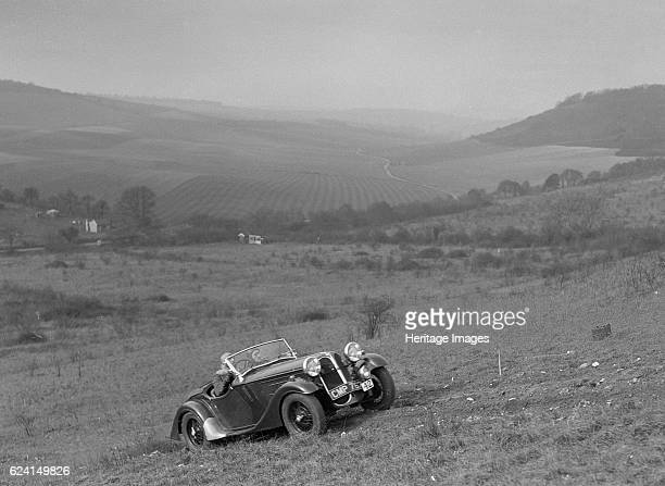 FrazerNash BMW 319 competing in the London Motor Club Coventry Cup Trial Knatts Hill Kent 1938 Artist Bill BrunellFrazerNash BMW 319 Vehicle Reg No...