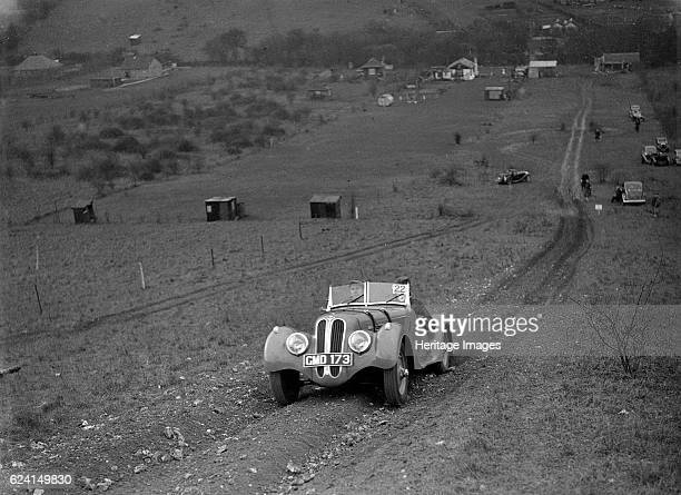 FrazerNash BMW 328 of H Wood at the London Motor Club Coventry Cup Trial Knatts Hill Kent 1938 Artist Bill BrunellFrazerNash BMW 328 1991 cc Vehicle...