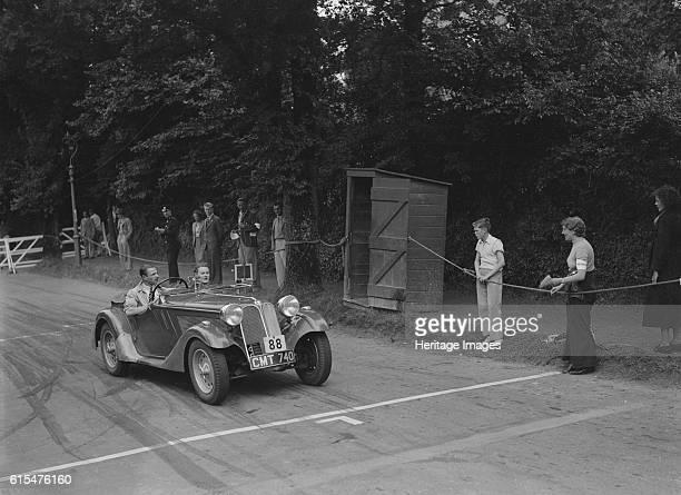 Frazer-Nash BMW of DN Leon competing at the MCC Torquay Rally, July 1937. Frazer-Nash BMW 1935 1911S cc. Vehicle Reg. No. CMT740. Event Entry No: 88...
